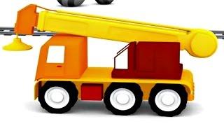 Lehrreicher Zeichentrickfilm - Die 4 kleinen Autos - Kran