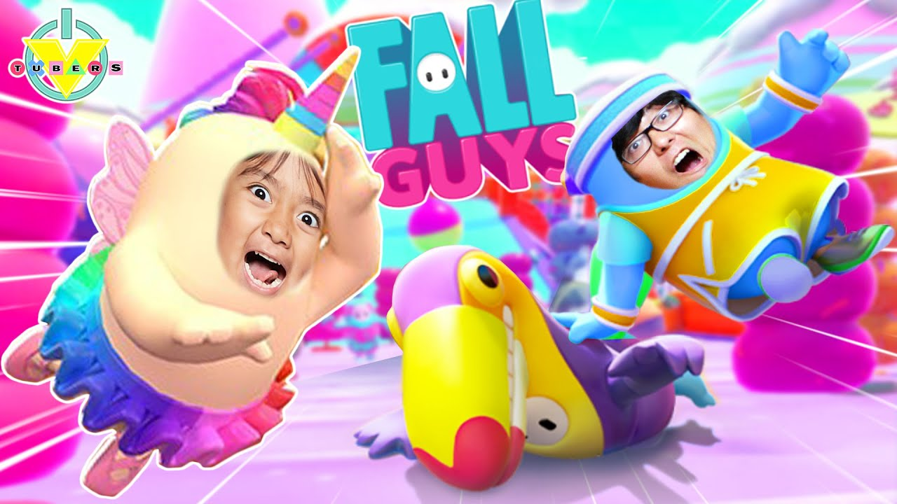 FALL GUYS Happiest Battle Royale Let's Play with Ryan Vs Daddy!