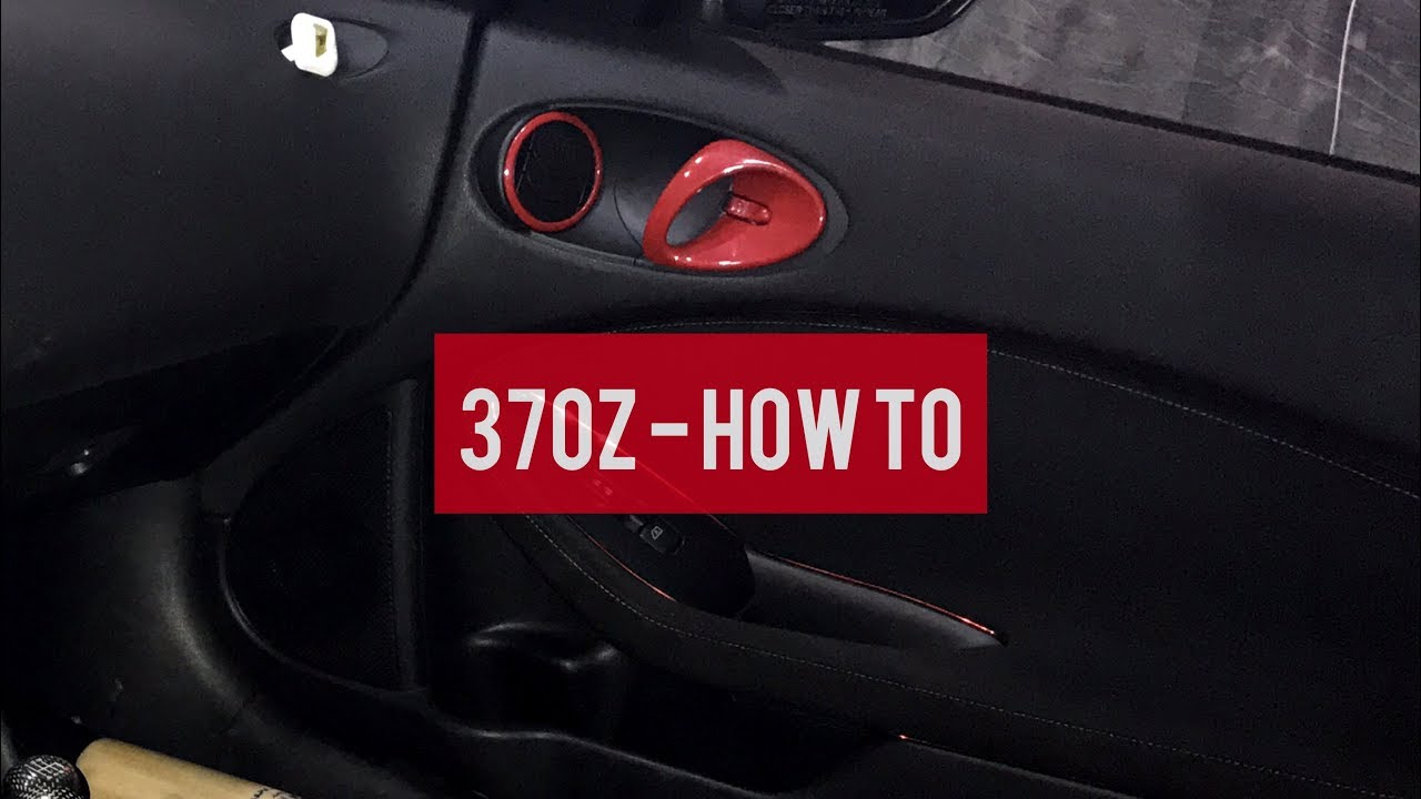 370z How To Disassemble The Door Panels Youtube