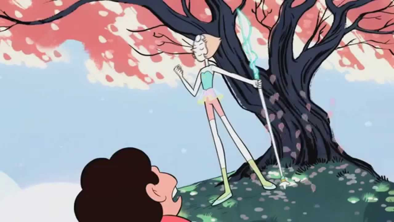How To Make A Gif Your Wallpaper Iphone X Steven Universe Ep 01 Gem Glow Summon Weapon Pearl
