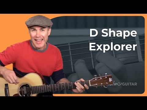 You will never want to play a simple D Chord again! :) D Shape Explorer Variations Guitar Lesson