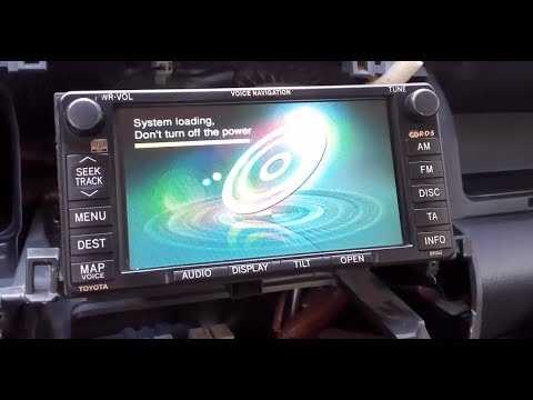 Toyota Radio Dvd Navigation System Please Insert Correct Map Disc