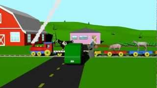 Cover images Farm Animal Train - Learning for Kids