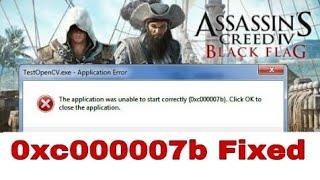 Fix 0xc000007b error in Assassin's Creed 4 Black Flag.
