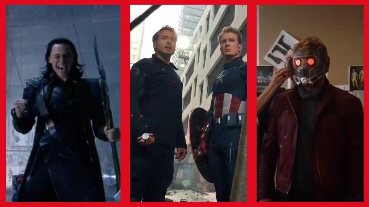 Random Set Videos From Marvel Movies