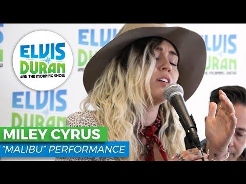 "Miley Cyrus - ""Malibu"" Acoustic | Elvis Duran Live"