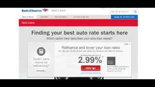 Cheapest Used Car Loan Rates - Bank Of America