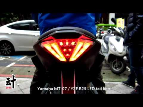 Motorcycle Led Tail Light For Yamaha Mt 07 Yzf R25 Youtube