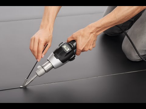 Correctly Installing Linoleum Floor Using Heat Tools Youtube