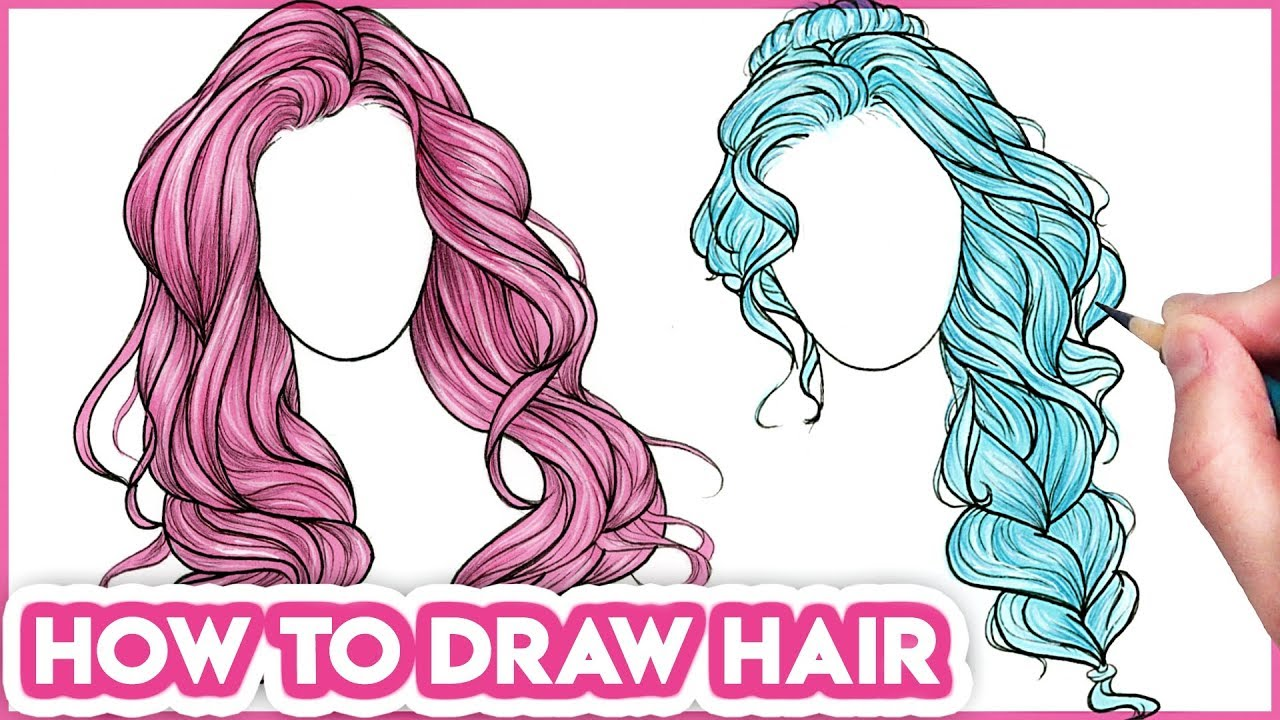How To Draw Hair For Beginners Drawing Tutorial Step By Step Youtube