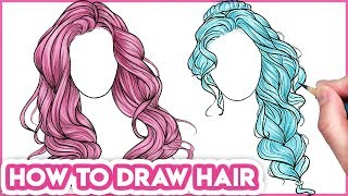 How to Draw Hair for Beginners | Drawing Tutorial Step by Step