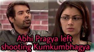 Omg!! Sriti Jha and Shabbir(Abhi and Pragya) quits shooting for Kumkum Bhagya for this reason 
