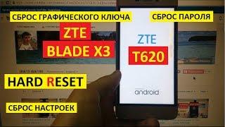 Hard reset ZTE Blade X3 ZTE T620