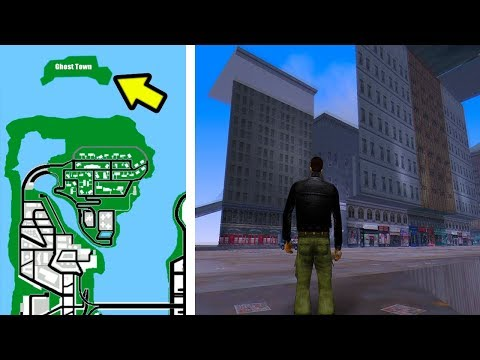 Exploring GHOST TOWN in GTA 3 (SUPER SECRET LOCATION)