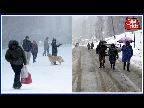 Heavy snowfall in North Kashmir, coldest