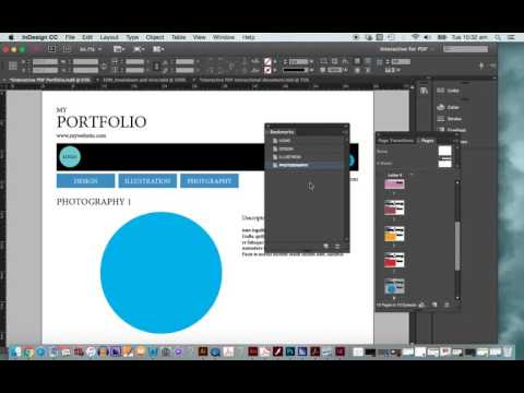 Creating interactive PDF with Indesign
