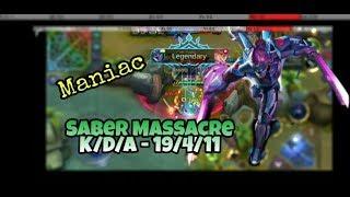 The way to play SABER Insane Gameplay | New Season Rank Mobile Legends Bang Bang