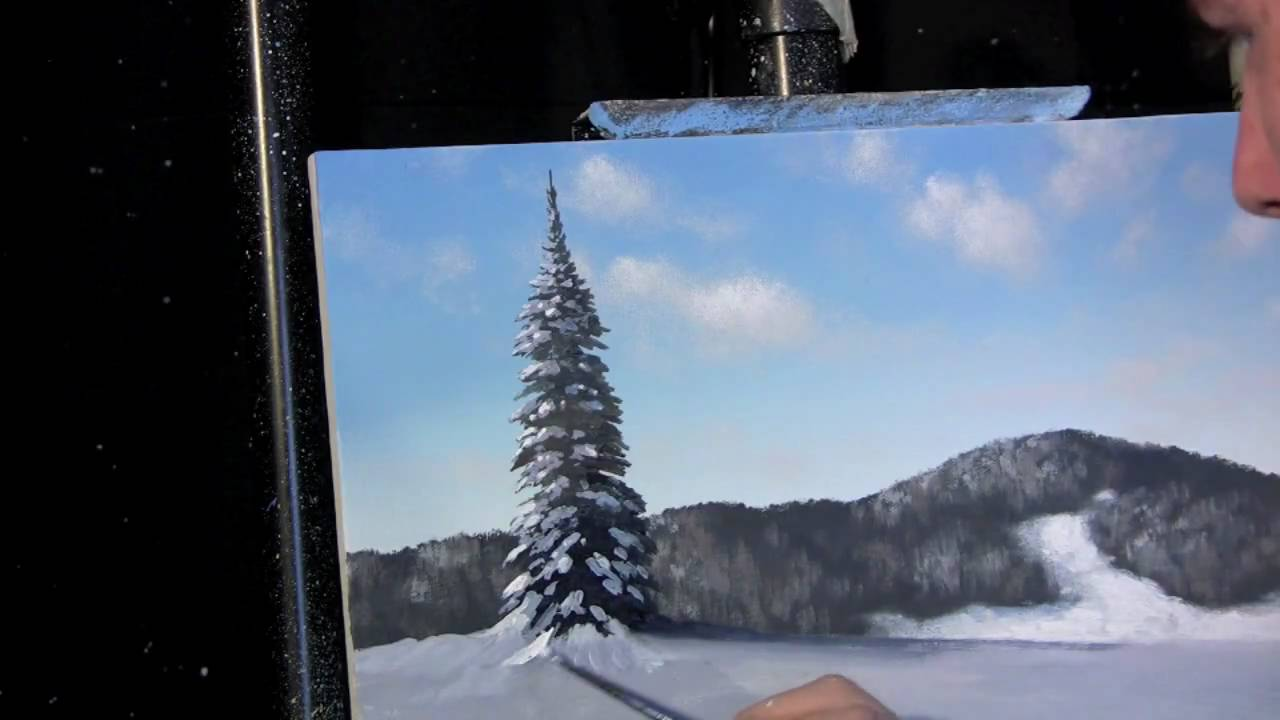 Time Lapse Acrylic Painting Winter Landscape Lesson Preview By Tim Gagnon Timgagnon