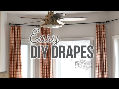 How to Sew Easy Rod Pocket or Ring Clip Drapes