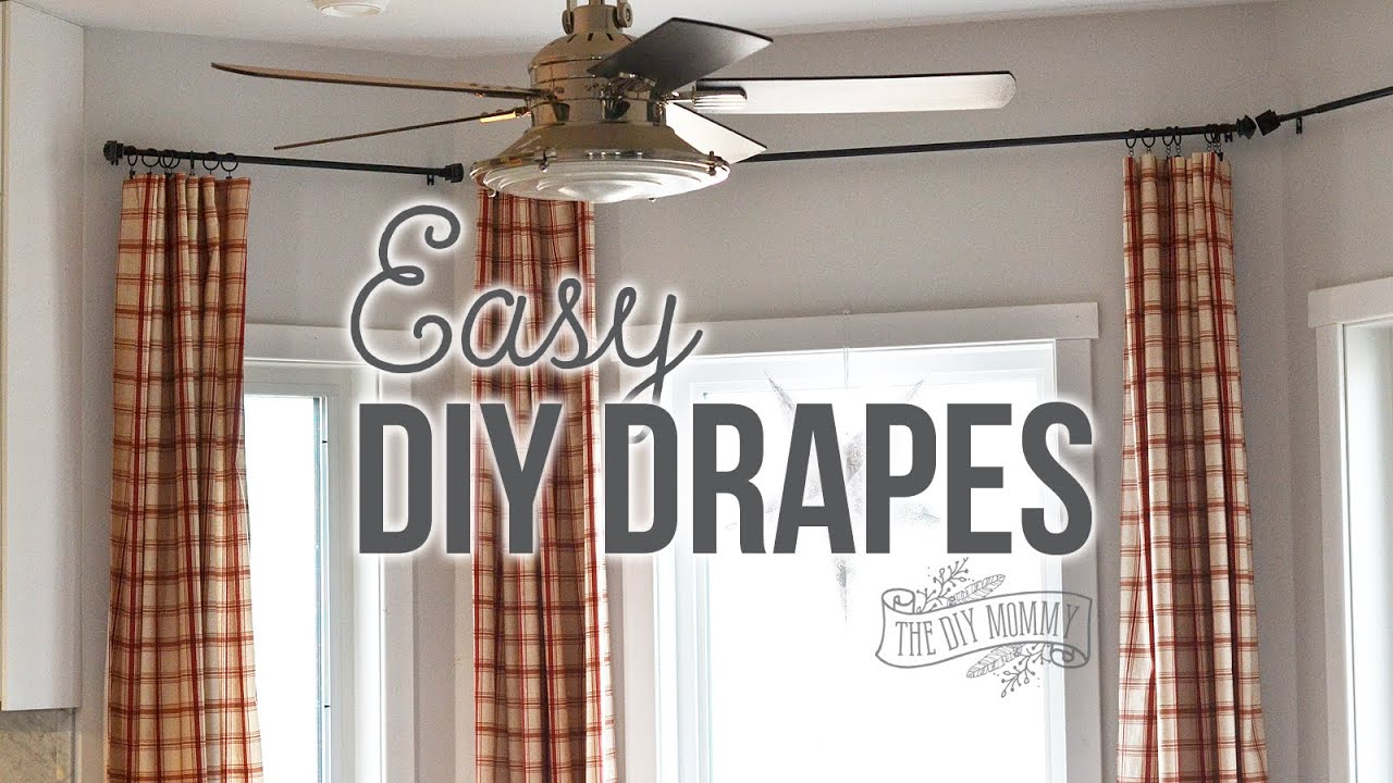 How To Sew Easy Rod Pocket Or Ring Clip Drapes Youtube