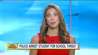 14-year-old middle school student arrested for making threats to school