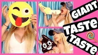 Tasting GIANT GUMMY Candy Treats! OMG!