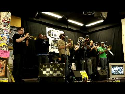 NOBS Brass Band - 'Take On Me' at Plan 9 Records, Richmond, VA - Record Store Day 2011