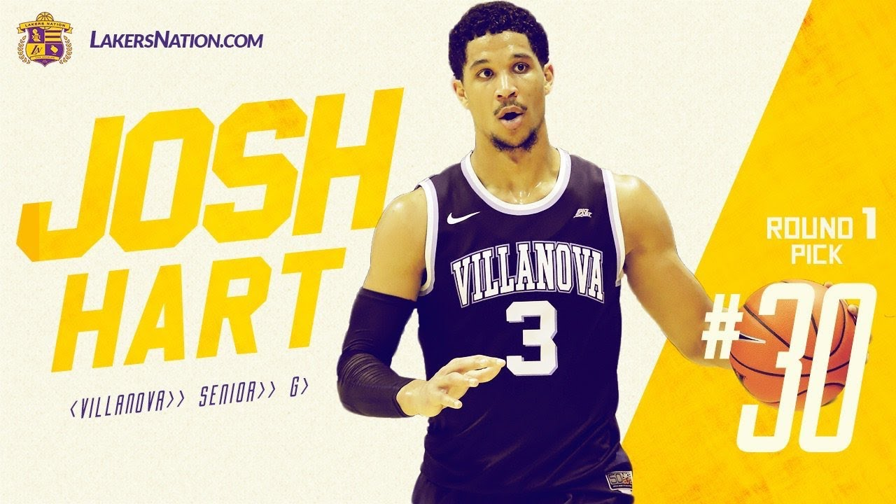 huge discount faa59 83c13 Lakers Select Josh Hart at the 30th pick (via Jazz Trade for the 28th pick)  in the 2017 NBA Draft