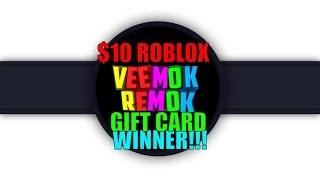 Annuncio dei vincitori della carta regalo Roblox da 10 dollari!!!