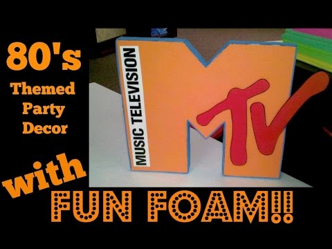 How To Make Fun Foam 80's Party Theme - MTV / PACMAN / RUBIX CUBE Decorations