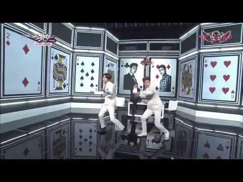 28.02.14 Music Bank - TVXQ! Spellbound (Sub Español + Karaoke)