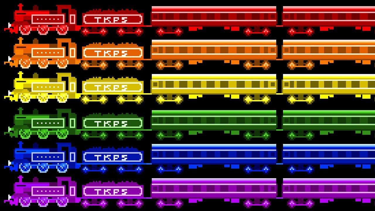 locomotive colors color train railway vehicles the kids