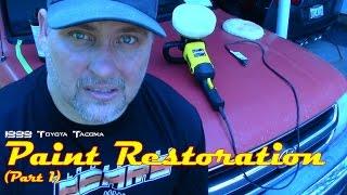Restore an oxidized paint job on a truck