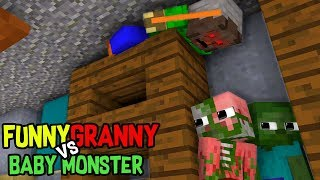 Monster School : FUNNY BABY MONSTERS Vs GRANNY GHOST: Minecraft Animation