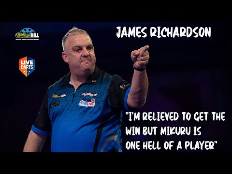 """James Richardson: """"I'm relieved to get the win but Mikuru is one hell of a player"""""""