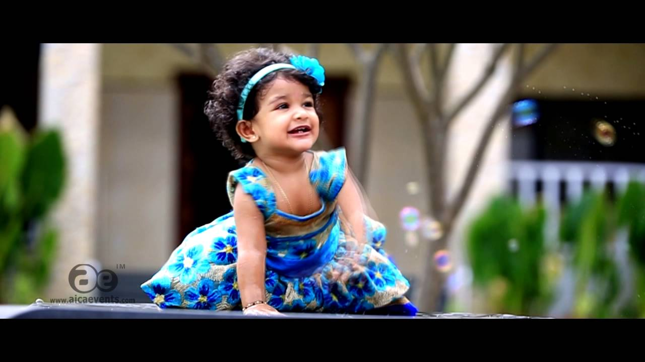 Aadhya 1st Birthday online invitation By Aica Events - YouTube