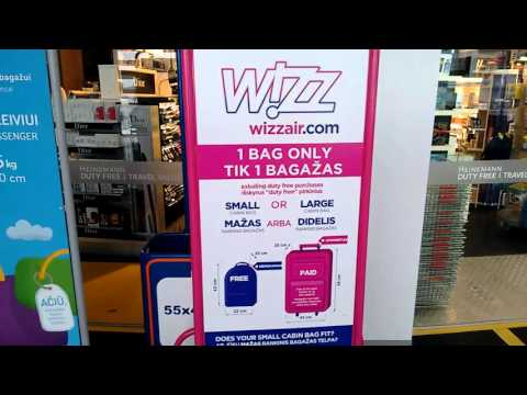 Wizzair Cabin Baggage Measuring Cage Youtube