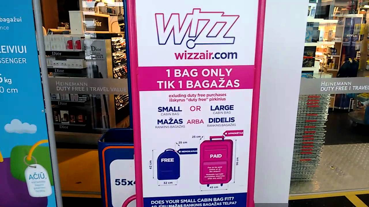 Wizzair hand luggage