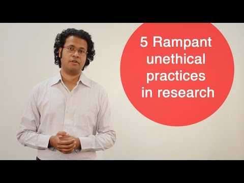 5 Rampant unethical practices in research