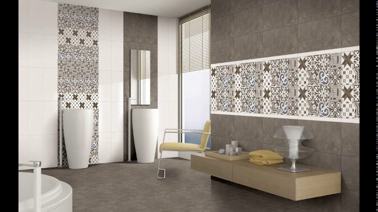 Bathroom tiles design kajaria youtube for Latest bathroom tiles design