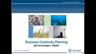 Business Continuity Planning - recorded webinar 25 July 2013