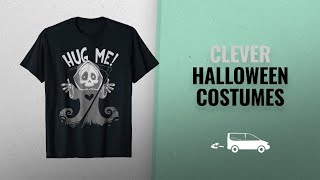 Clever Halloween Costumes 2018: Hug Me Grim Reaper Funny Halloween Clever 2018 T-Shirt