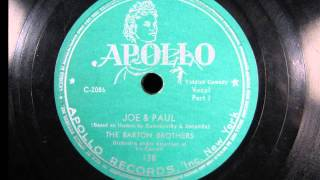 JOE & PAUL by The Barton Brothers (Yiddish Comedy) 1947