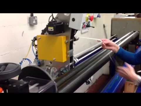 Carbon fibre tube making machine