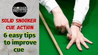 Snooker coaching - SoĮid snooker cue action (6 easy tips to improve cue action)_