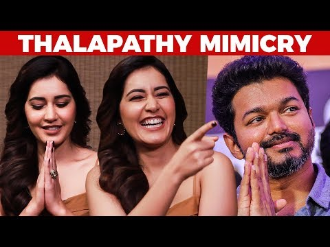 Thalapathy Vijay MIMICRY Performance by Raashi Khanna | US 250