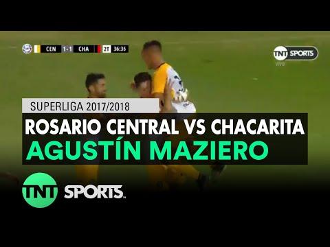 Agustín Maziero (2-1) Rosario Central vs Chacarita | Fecha 20 - Superliga Argentina 2017/2018