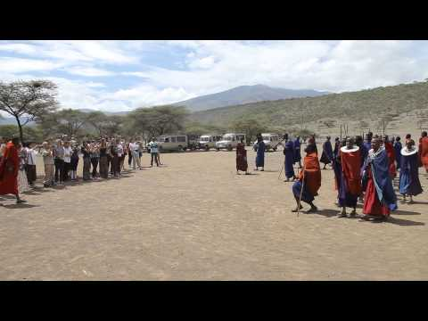 Ahsante Tours - On Safari - Maasia dance in Ngorongoro highlands