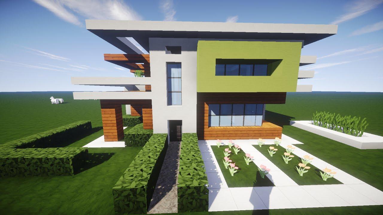Minecraft Spielen Deutsch Minecraft Haus Bauen Youtube Bild - Minecraft haus mit garten bauen