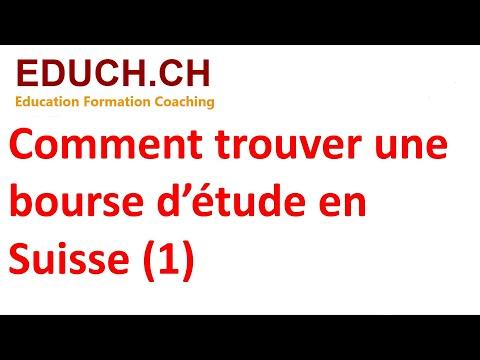 Jobcoaching Comment trouver une bourse en Suisse 2021 Educh.ch